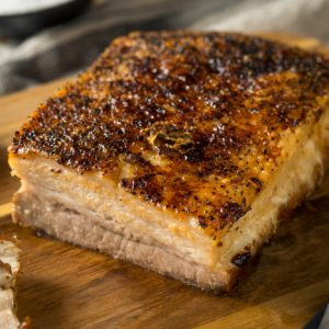 Roasted Organic Pork Belly Meat